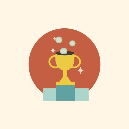 Illustration of trophy vector 일러스트