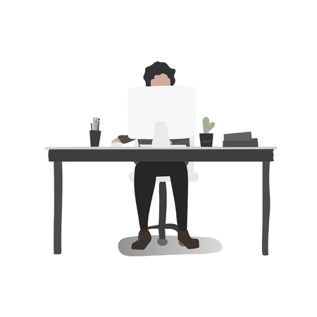 Office worker vector  イラスト・ベクター素材