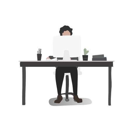 Office worker vector Illustration