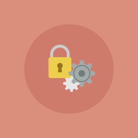 Privacy setting vector icon illustrationVector of computer setting icon