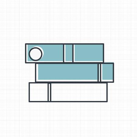 Vector of office supply icon Ilustracja