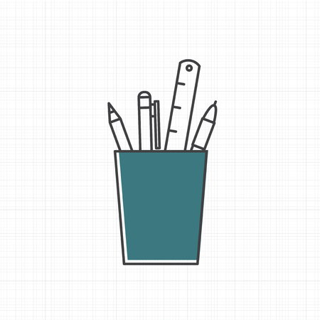 Vector of office supply icon Zdjęcie Seryjne - 86964292