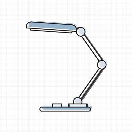 Table lamp vector illustration.