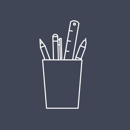 事務用品アイコンのベクトル