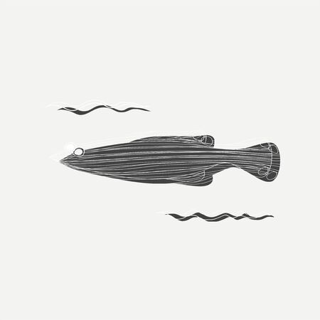 Illustration des marinen Lebens Standard-Bild - 86964310