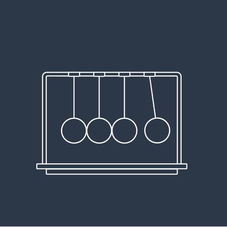 Vector van momentum ballen icoon