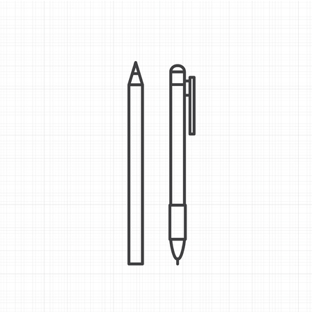Vector of pen icons Ilustrace