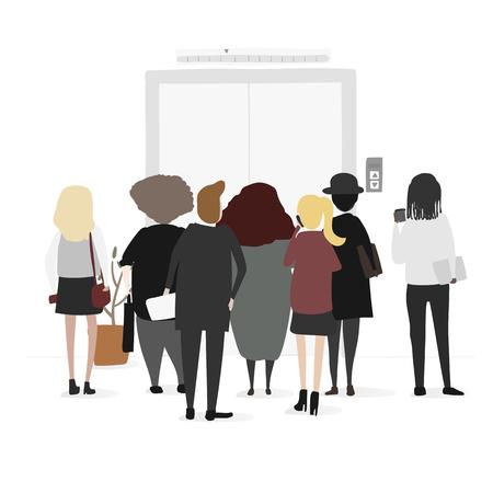 Illustration of business vector set Çizim