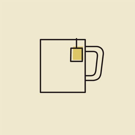 Vector of hot drink cup icon
