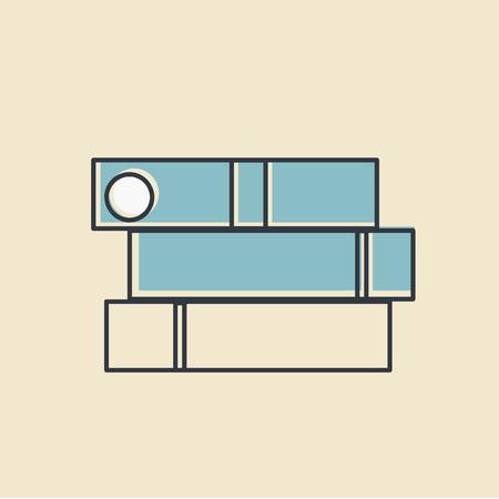 事務用品オフィス供給アイコンの主催者ベクトル イラスト ベクター  イラスト・ベクター素材