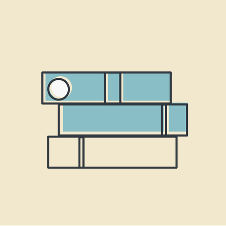 Office supplies organizer vector illustration Vector of office supply icon