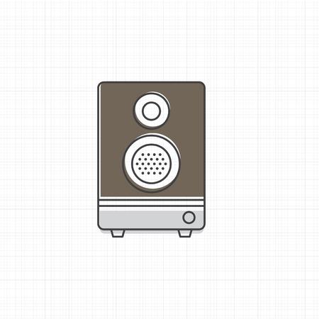 Altavoz icono de la ilustración vectorial estéreo Foto de archivo - 87041763