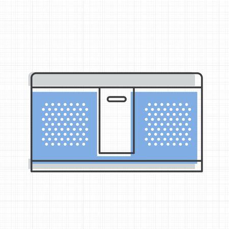 Speaker stereo icon vector illustration