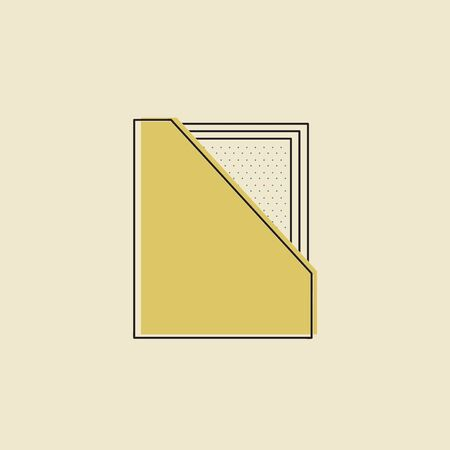 Vector of office supply icon Illustration