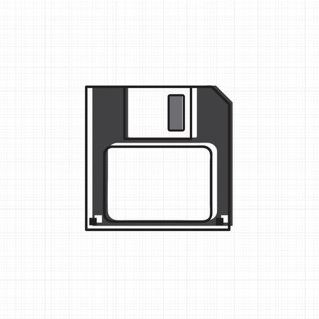 Vector of floppy disk
