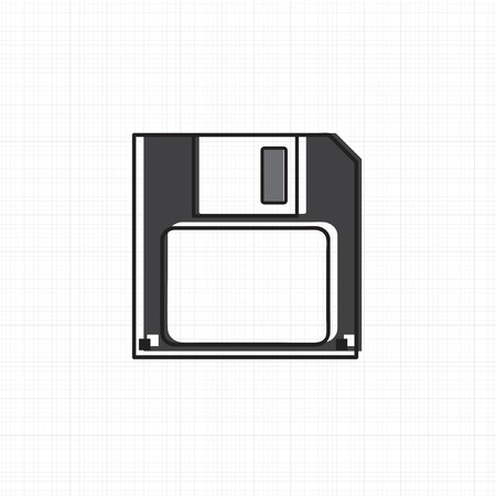 Vector of floppy disk