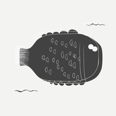 Illustration des marinen Lebens Standard-Bild - 86923654