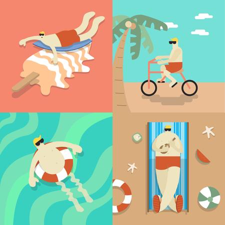 Chilling sur la plage Banque d'images - 86923656