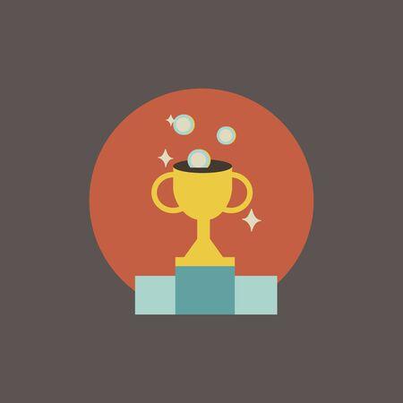 Illustratie van trofeevector