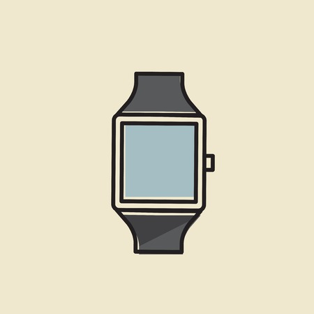 Vector of hand watch icon. Illustration