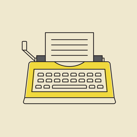 Vector of typewriter icon. Çizim