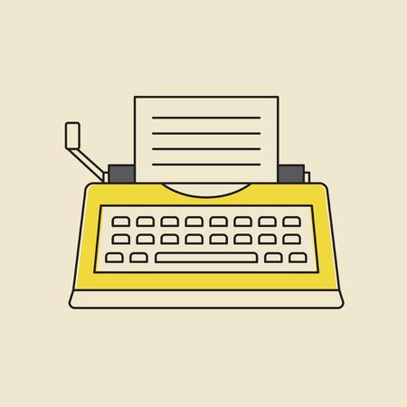 Vector van typemachine pictogram. Stock Illustratie