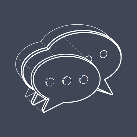 Illustration of speech bubble.