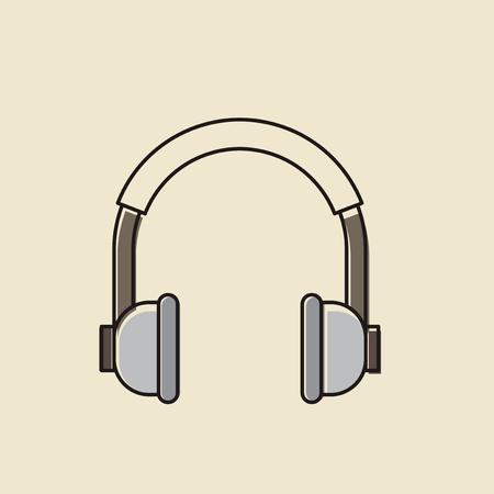 ヘッドフォンのアイコンのベクトル