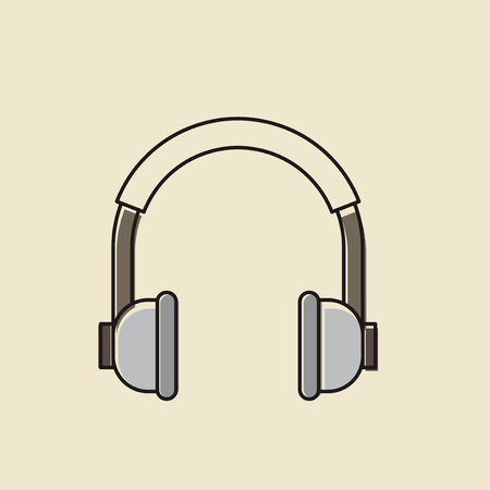 Vector of headphones icon