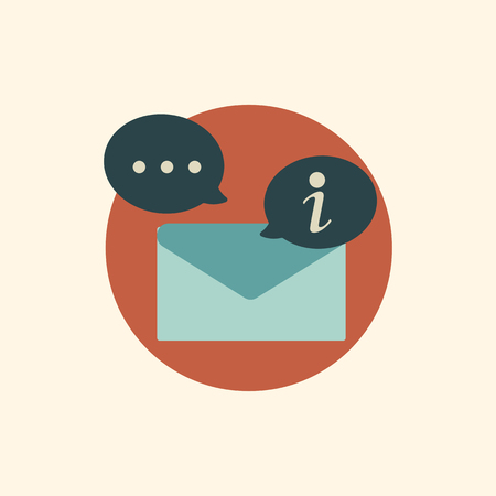 Illustration of email and alert icon