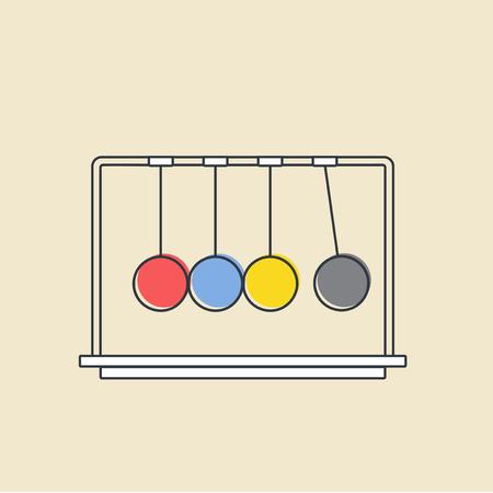 勢いのボール アイコンのベクトル。