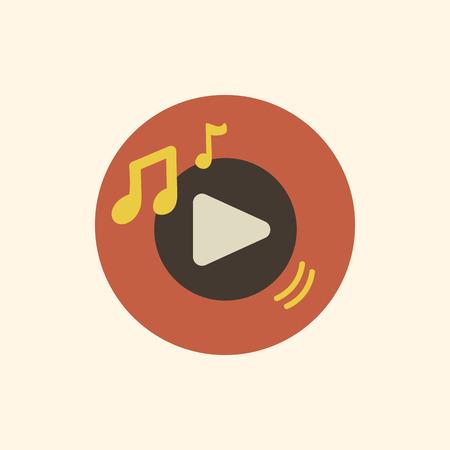 Illustration play icon isolated on background Illusztráció