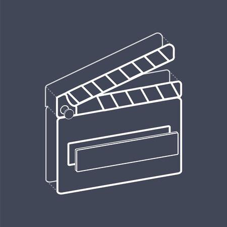 Illustrative movie slate creative digital graphic Illustration