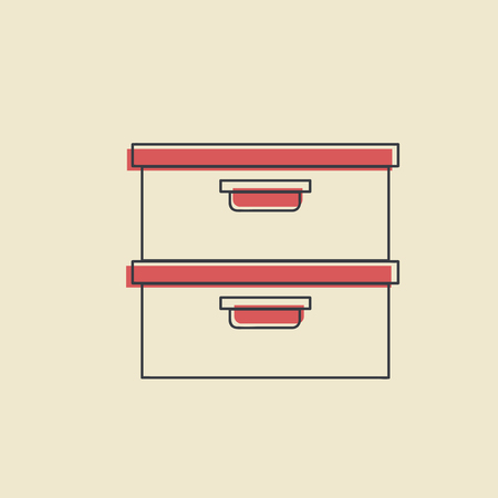 Vector of office supply icon.