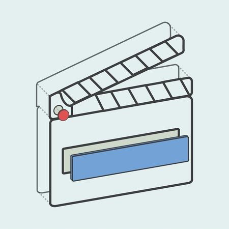 説明映画スレート創造的なデジタル グラフィック