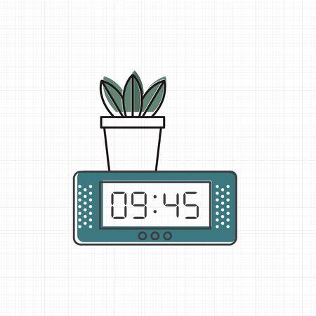 Vector of digital clock icon