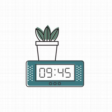 Vector of digital clock icon Banco de Imagens - 86923693