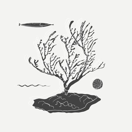 Illustration of marine life Reklamní fotografie - 86923698