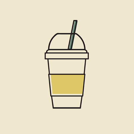 Vector of cold drink cup icon Stock fotó - 86923709