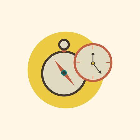 Illustration of clock icon.