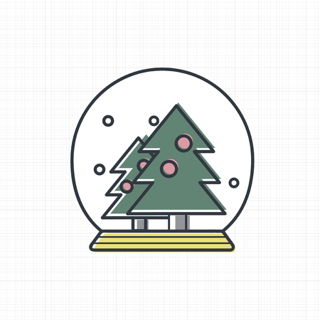 Vector of Christmas snow ball icon. Illustration