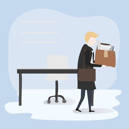 Vector collectie van zakenmensen Stock Illustratie