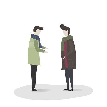 Illustration of human avatar. Ilustração