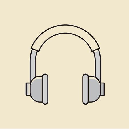 ヘッドフォンのアイコンのベクトル。