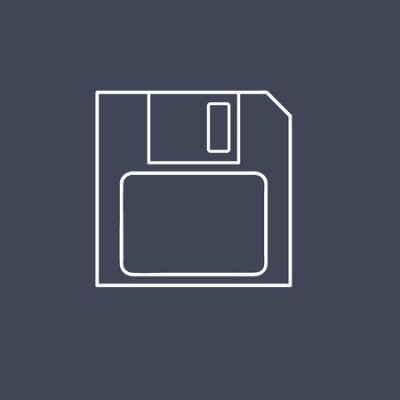 Vector of floppy disk.