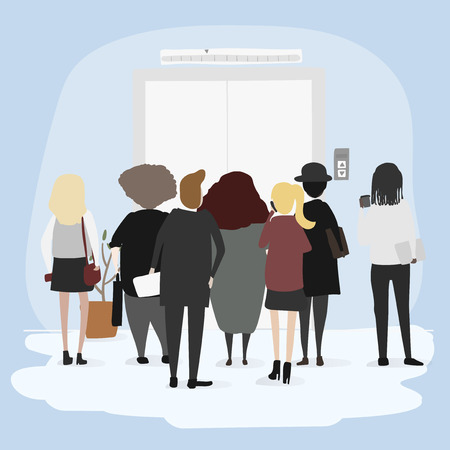 Vector collection of business people. Иллюстрация