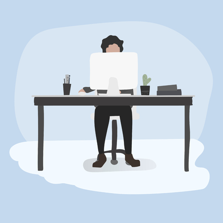 Illustration of office workers lifestyle.