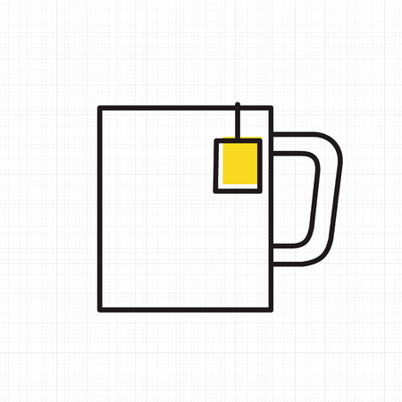 Vector of hot drink cup icon.