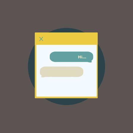 Illustration of message window