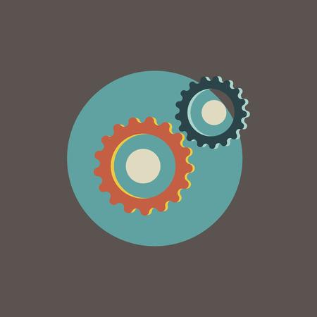 Illustration of gear icon.